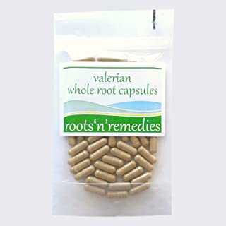 Valerian Whole Root Capsules - 350mg - Premium Quality &