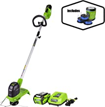 Greenworks 12-Inch 40V Cordless String Trimmer with Extra 3 Pack Spool, 2Ah Battery and Charger Included 2101602