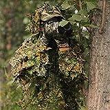 Tenue Camouflage Ensemble Veste à Capuche et Pantalon Camouflage avec 3D Maple Leaf Bionic Ghillie Costumes Vêtements de Chasse...