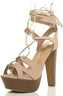 Best leg wrap lace up heels Reviews