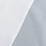 NBK 紫外線カット芯材 UVカット接着芯地 巾120cm×2m切売カット ホワイト PUV1910-W-2M