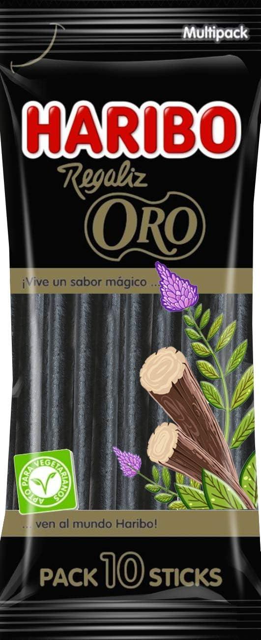 HARIBO Regaliz Oro 10 Sticks, 1 x 125 g