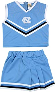 Officially Licensed NCAA Girls 2 Piece Cheer Dress, Toddler- Youth Girl