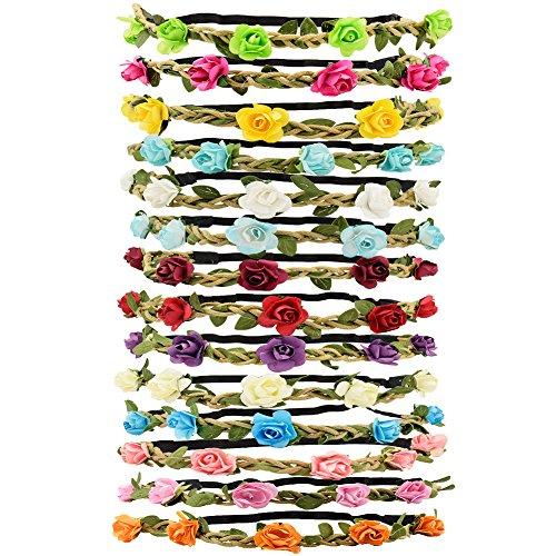 Tomkity 14 Pezzi Multicolore Ghirlande Fasce del Fiori...