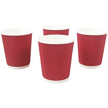 NASTEE Paper Cup - 50 Pieces, Red, 200 ml