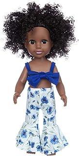 """African American Baby Doll Toy,14"""" Soft Body Doll Cute Lifelike Reborn Baby Dolls Child Xmas Birthday Gift (C2)"""