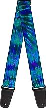 Buckle-Down 2 Inches Wide Guitar Strap - Tie Dye Green/Blue/Purple (GS-W32088)