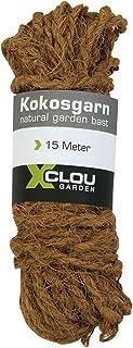 Xclou Kokosgarn, Seil aus Natur-Kokosfasern in braun, Umweltfreundliches und Nachhaltiges Bindegarn, robustes Kokos-Seil, Durchmesser ca. 8 mm x L ca. 15 m