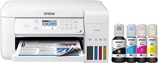 $285 » Epson EcoTank ET-3710 Wireless Color All-in-One Cartridge-Free Supertank Printer with Scanner, Copier and Ethernet, Works ...