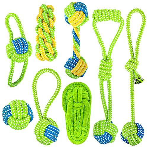 Vanplay Hundespielzeug Seil, Spielseil für Haustiere Hunde Intelligenz Spielzeug Interaktives Kauspielzeug für Welpe Kleine Mittlere Hunde