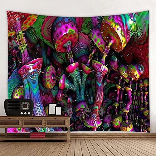 KHKJ Tapiz psicodélico decoración de la Pared Que se desmorona Tapiz de árbol de Luna Boho Revestimiento de Paredes Alfombra de Tela de Playa A3 150x130cm