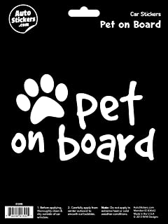 Pet on Board Vinyl Car Sticker Decal