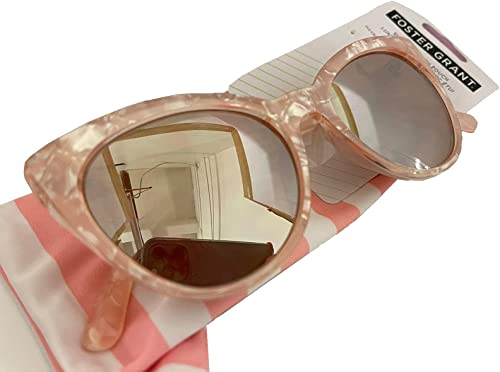 discount Foster new arrival Grant Women's Cat Eye Pink Mirrored Sunglasses lowest With Microfiber Pouch sale