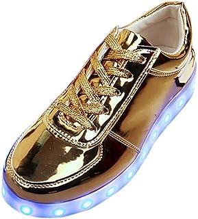 official photos e5097 9a525 Sneaker LED Hommes Femme Lumière Dentelle, QinMM USB Charge Jusqu à Lueur  Mode Clignotant