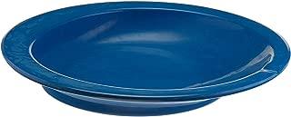 Sammons Preston Round Scoop Dish, Blue, Polyester Dish with Non-Skid Base has 9