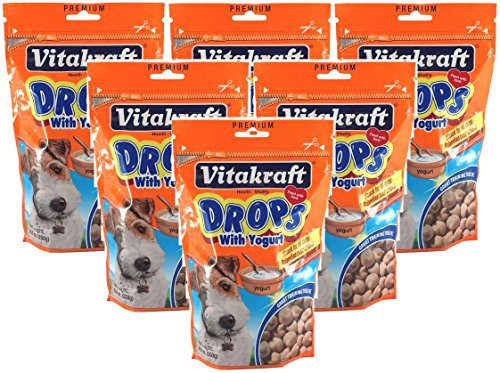 VitaKraft 6 Pack of Drops with Yogurt Dog Treat Snacks, 8.8 Ounces Per Pack