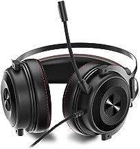 Baugger O Over-Ear E-sport Gaming Headset Estéreo 7.1 Som para PUBG 53mm Drive com PU Couro Macio Almofada de Orelha Multi...