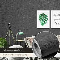 厚いPVCの自己接着性の壁紙ノルディックベッドルーム家具の改修接着紙純粋な白い防水自己接着剤-濃い灰色-60cm 1 M.