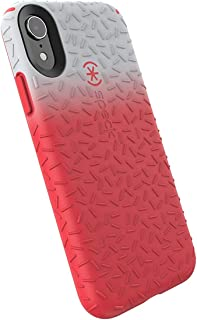Speck Products CandyShell Fit iPhone XR Case, Dolphin Grey Ombre Mercury Red/Mercury Red