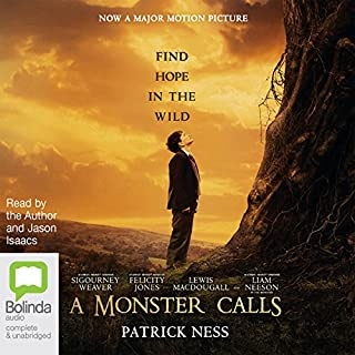 A Monster Calls                   By:                                                                                                                                 Patrick Ness                               Narrated by:                                                                                                                                 Jason Isaacs                      Length: 3 hrs and 51 mins     265 ratings     Overall 4.7