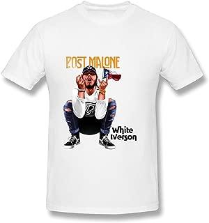 RZF Men's Post Malone White Iverson T-Shirt- White