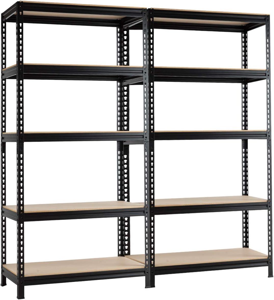 "Phoenix Mall Tangkula Austin Mall 5-Tier Steel Storage Shelves Garage She Duty Heavy 73"""