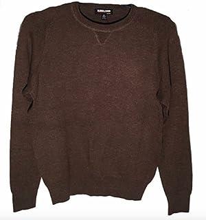 Kirkland Signature 男式超细美丽诺羊毛和比马棉毛衣
