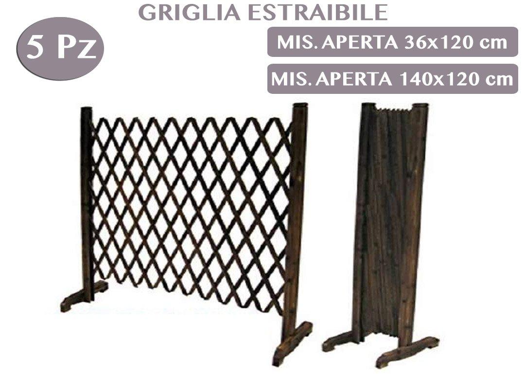 1712645 Panel Grigliato de madera extraíble de jardín 5 unidades Madera Abedul para muebles exterior decoración jardín: Amazon.es: Jardín