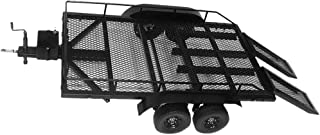 Bonarty 1:8 1:10 Scale Dual Axle Flatbed Trailer Kit with Leaf Suspension for RC Rock Crawler Truck Buggy Cars Heavy Duty Trailer