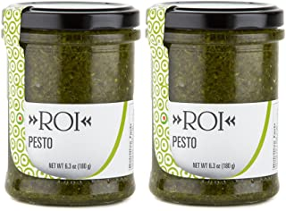 ROI Pesto Sauce - Vegan Pesto | Fresh Ligurian Basil Pesto Made of Genovese DOP basil and EVOO | Gluten Free Pesto | Keto ...