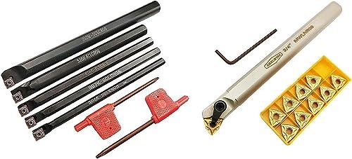 new arrival ASZLBYM S06K/S07K/S08K/S10K/S12M-SCLCR06 2021 S20R-MWLNR08 Lathe Indexable Carbide Turning Tool Holder Bit Set with online sale 5PCS CCMT21.51/CCMT060204 10PCS WNMG432 Indexable Turning Inserts outlet sale