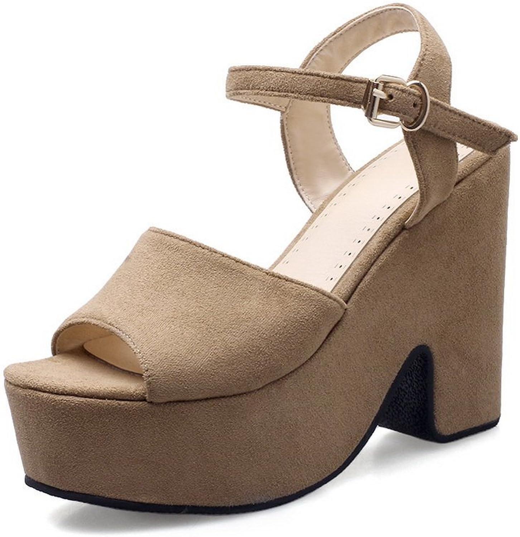 AdeeSu Womens Platform Solid Mule Urethane Sandals SLC04147