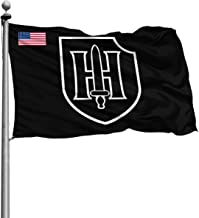 other1 9th SS Panzer Division America Flag 4x6 Ft Printed Polyester Military Flag Army Flag Banner Breeze Flag
