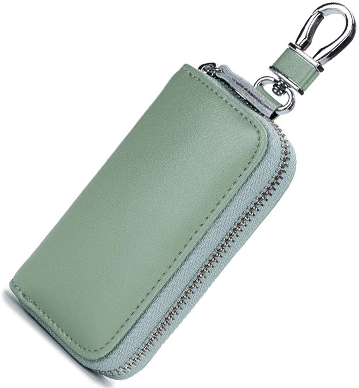 Genuine Leather Key Case,Ange Bety Card Case Car Key Wallet Zipper Case