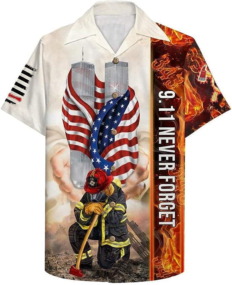 Golden Store US Firefighter 9.11 Never - Shirt Hawaii Cheap Forget Ha Under blast sales