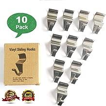 Vinyl Siding Hooks, Vinyl Siding Hooks for Hanging, Heavy Duty Stainless Steel Low Profile No-Hole Hanger Hooks, Outdoor Hooks for Vinyl siding, Vinyl siding Hooks Heavy Duty (10 Pack)