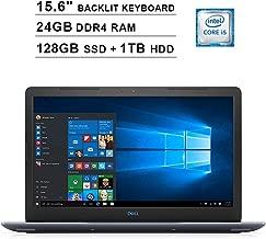 2019 Premium Dell G3 15.6 Inch FHD 1080P Gaming Laptop (Intel Core i5 2.3GHz up to 4.0GHz, 24GB DDR4 RAM, 128GB SSD + 1TB HDD, Nvidia GTX 1050Ti 4GB, Backlit Keyboard, Bluetooth, WiFi, Windows 10)