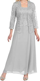 Womens Long Mother of The Bride Evening Formal Lace Dress...