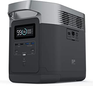 ECOFLOW(エコフロー) ポータブル電源 EFDELTA大容量1260Wh(350,000mAh) AC高出力1600W(サージ3100W) 高速充電2時間 家庭用蓄電池 MPPT制御方式 車中泊 キャンプ アウトドア 防災グッズ ソーラー...
