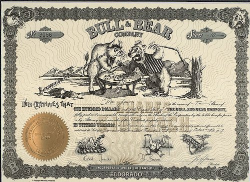 Juxaktie The Bull and Bear Company ohne Rahmen