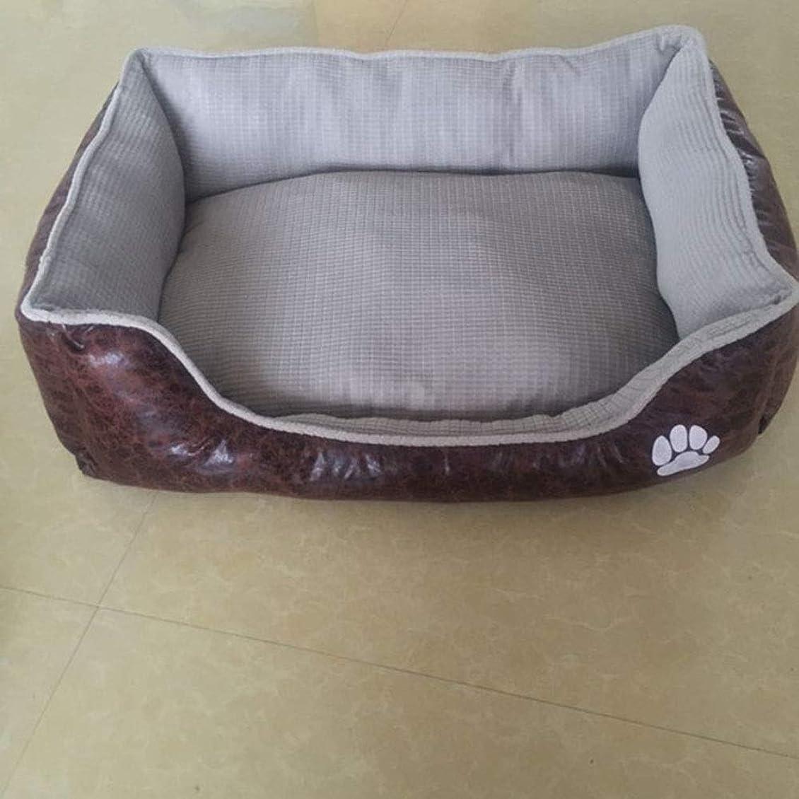 膨張する予防接種確認LilyAngel ペット巣ファッション防水ペットパッド猫ソファベッド (色 : グレー, サイズ : 90*70*20cm)