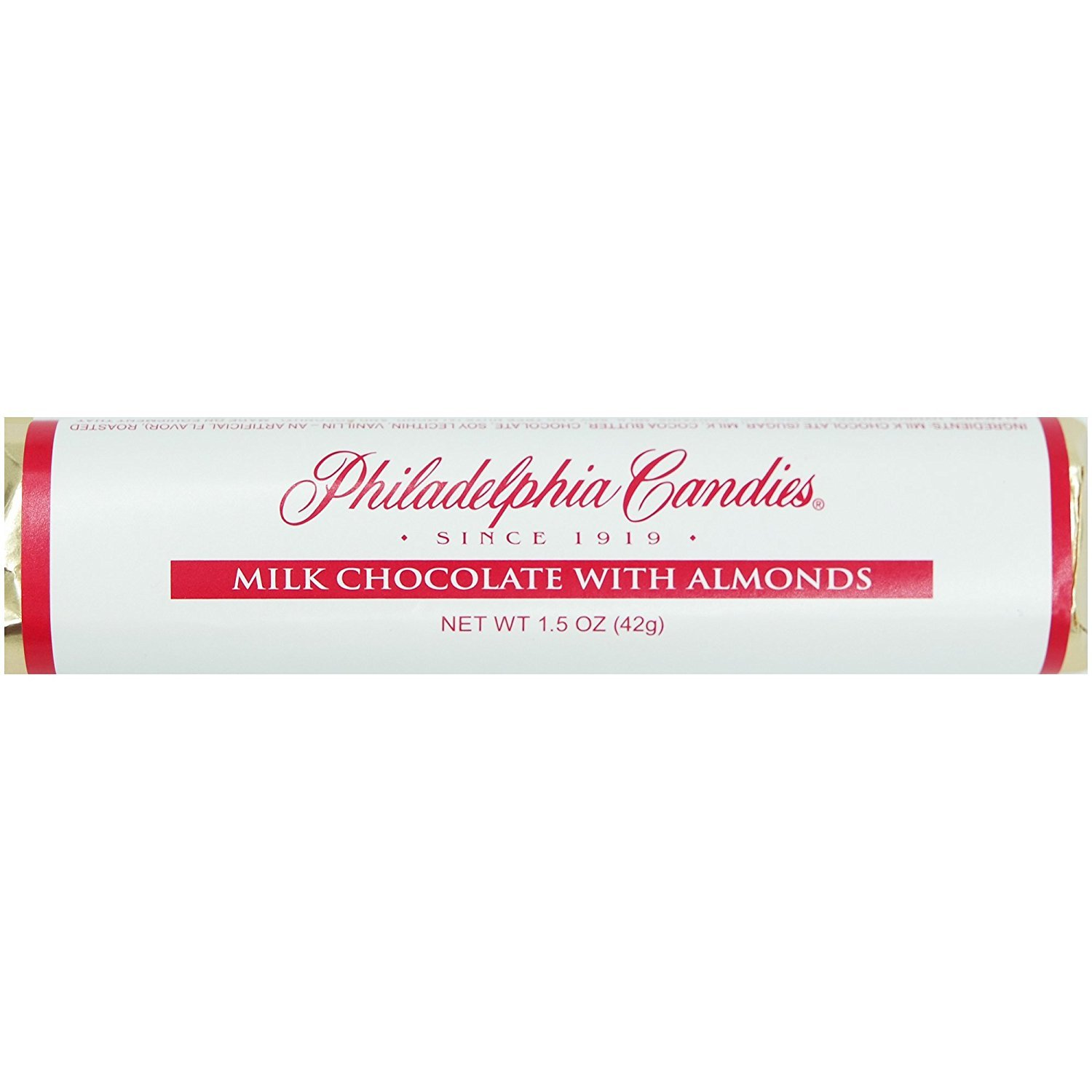 Philadelphia Candies Milk Chocolate with 1.5 Max 75% OFF Almonds Bar Ounce store