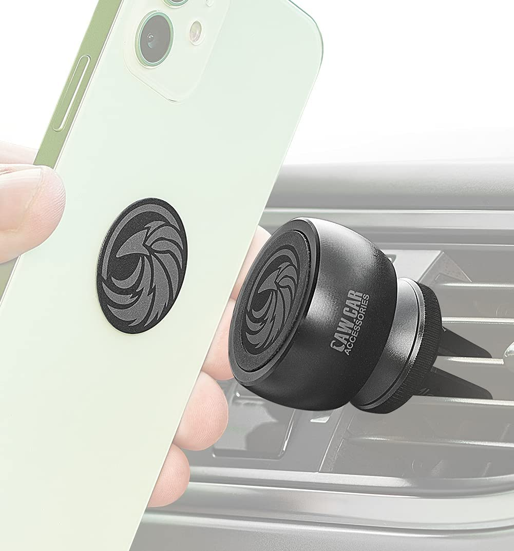 Magnetic Air Vent Car Mount - for Any Smartphone (iPhone, Android Cell Phone, GPS) | Stylish One-Hand & One-Sec Phone Car Holder, 100 to Safeness & Comfort
