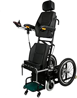 FHISD Wheelchair Electric Standing Power Wheel Chair for Elderly,Medical Equipment Electric Standing Wheel Chair Stand Up ...