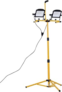 HOMCOM 10,000 Lumen LED Work Lights Dual Head Weather Resistant with Tripod Stand