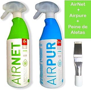 Kit Limpiador aire acondicionado Airpur + Airnet + Peine de aletas ...