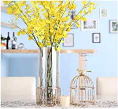 Flower Bottle Minimalist Glass Vase Home Decoration Hydroponic Flower Candlestick (43 * 14cm)