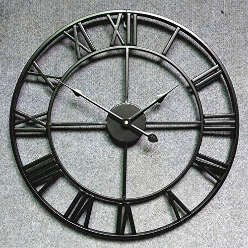 Amerikaanse Europese retro creatieve ijzer klok, Romeinse retro woonkamer decoratie wandklok,Width 45cm