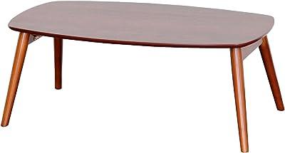 佐藤産業 Sereno ローテーブル 幅90cm 奥行50cm 高さ35cm ブラウン 折りたたみ式 VT4090 DBR