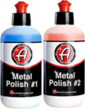 Adam's Metal Polish - for Aluminum, Chrome, Stainless, Uncoated Metals & Other Auto Part Accessories - Polish #1 Restores Neglected Metals - Polish #2 Achieves Perfection (Metal Polish Combo)